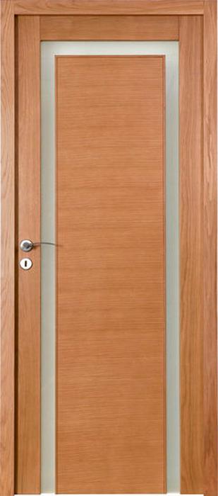 Porte proboporte bois massif ch ne teint merisier mod le - Portes en bois massif ...