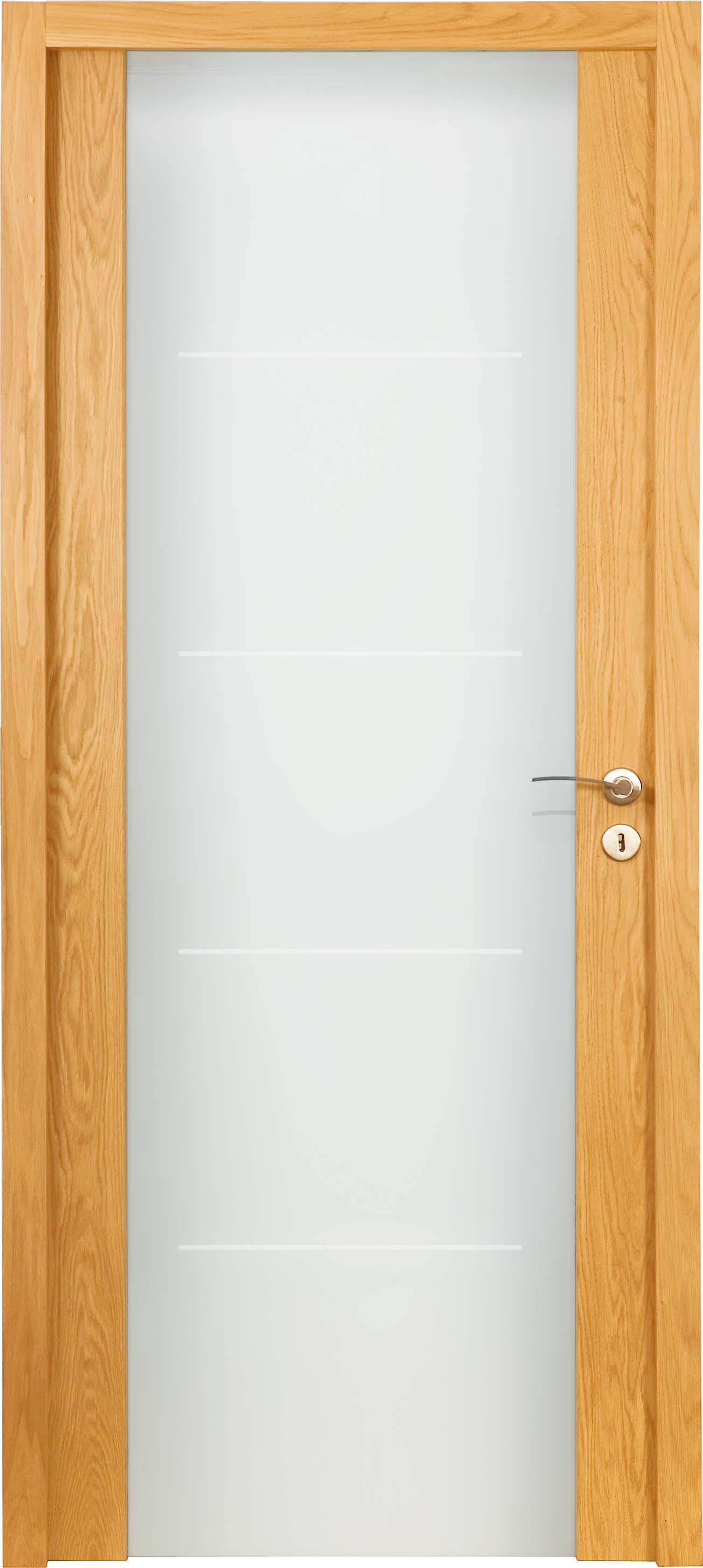 Porte proboporte bois massif ch ne verni mat mod le orcia Porte interieure basique