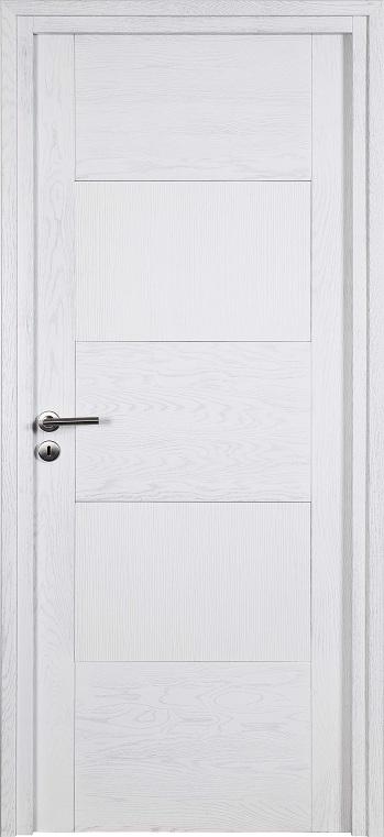 Porte proboporte bois massif ch ne blanc px structur s for Porte bois blanc