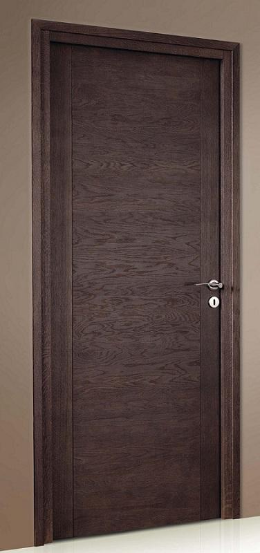 Porte proboporte bois massif ch ne teint taupe mod le for Porte chene massif castorama