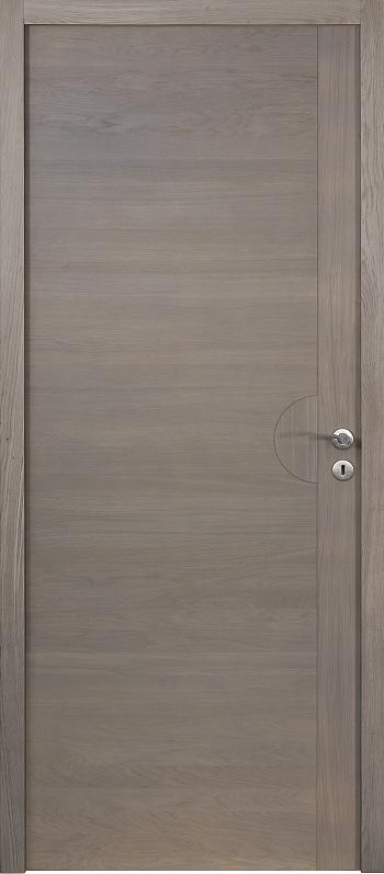 Porte proboporte bois massif ch ne teint gris mod le for Porte interieur gris