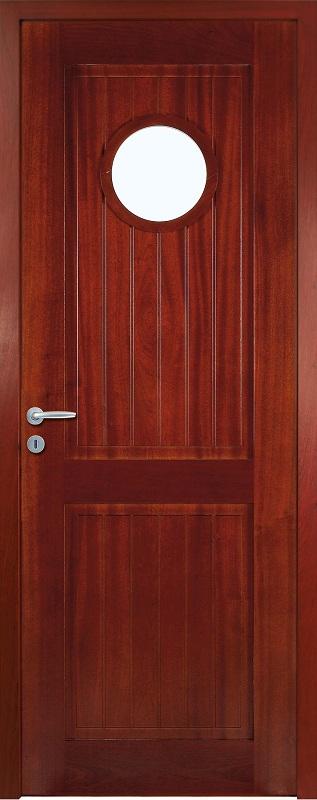 Porte proboporte bois massif sapelli teint acajou mod le for Porte 136 la baule