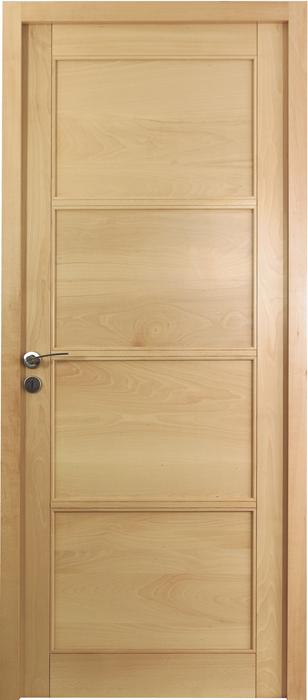 Porte proboporte h tre verni satin mod le iris 4 panneaux for Porte manteau contemporain bois