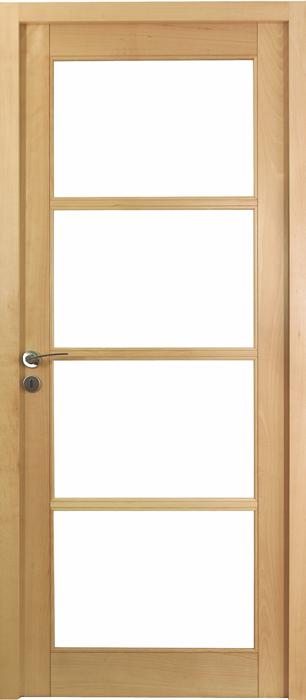 Porte proboporte h tre verni satin mod le iris 4 carreaux for Epaisseur porte a galandage