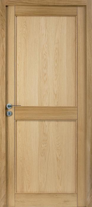 Porte proboporte ch ne verni satin mod le camelia 2 for Porte blanche en bois