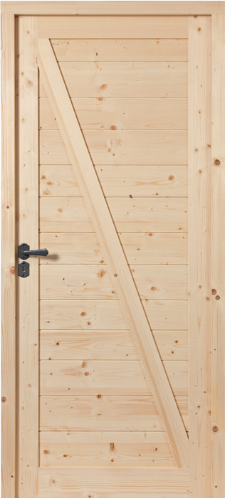 Porte proboporte sapin verni naturel mod le izoard avec for Chambranle de la porte