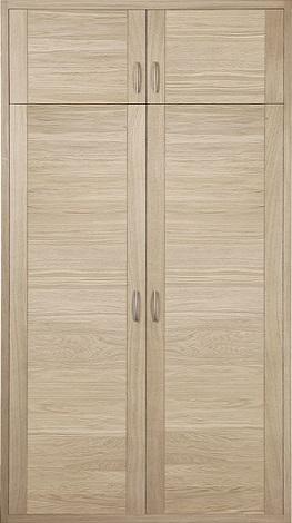 fa ade placard proboporte en ch ne blanchi mod le amina hue socoda n goces bois panneaux. Black Bedroom Furniture Sets. Home Design Ideas