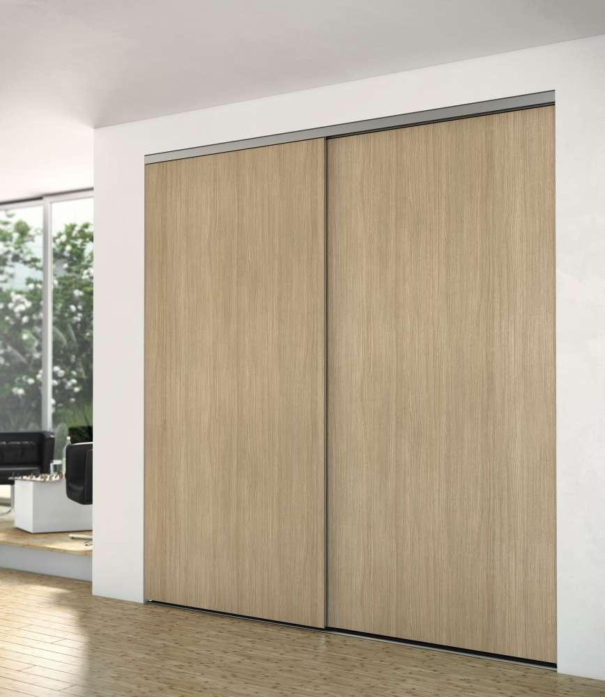 fa ade de placard gamme panoramique montant aluminium hue socoda n goces bois panneaux. Black Bedroom Furniture Sets. Home Design Ideas