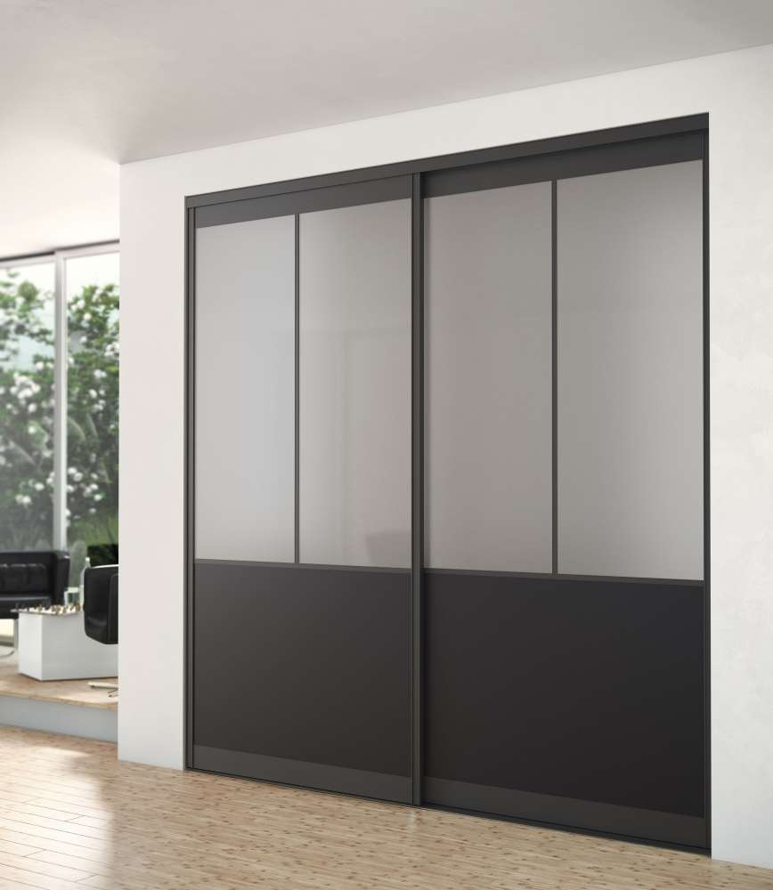 fa ade de placard gamme atelier montant aluminium hue. Black Bedroom Furniture Sets. Home Design Ideas