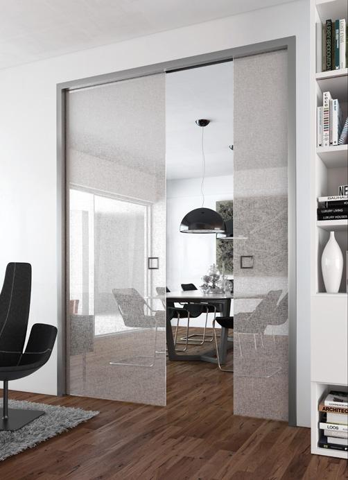 S paration de pi ces gamme panoramique montant aluminium - Porte coulissante separation de piece ...