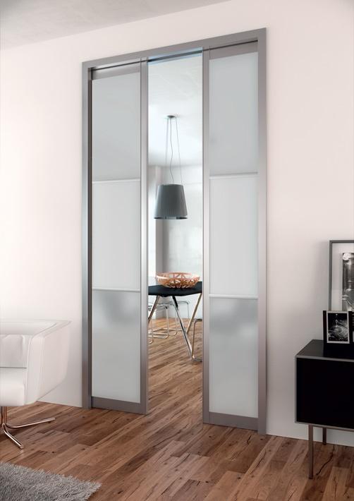 S paration de pi ces gamme reflet montant aluminium hue - Porte coulissante separation de piece ...